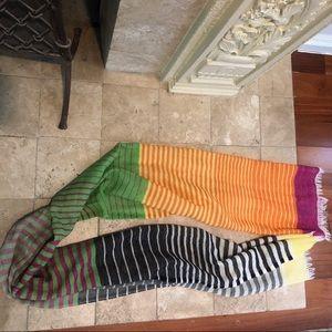Multi Stripe summer scarf
